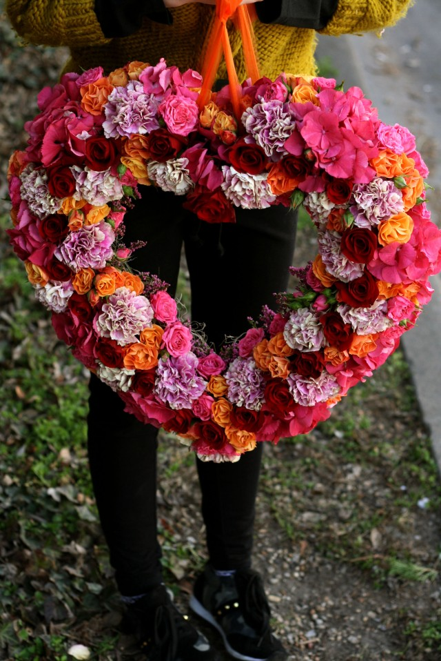 Valentine's Day Gifts, Floral Wreath DIY, Heart Wreath DIY, Dallas Valentine's Flowers, Cebolla Fine Flowers, Cebolla Dallas